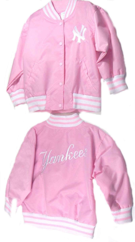 New York Yankees Pink Satin Jacket