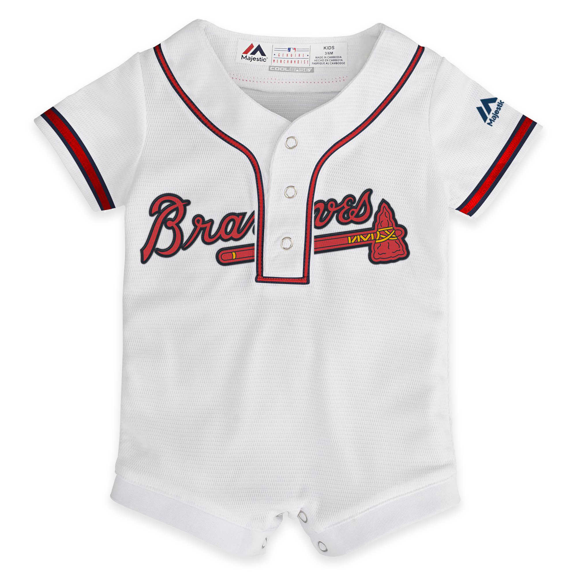 Atlanta Braves Newborn Infant Baby Onesie Can Be Personalized