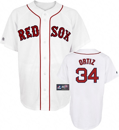 brand new ce25e 093ee David Ortiz official youth Red Sox home jersey