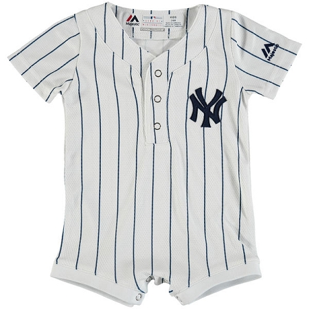 Yankees personalized newborn official jersey onesie