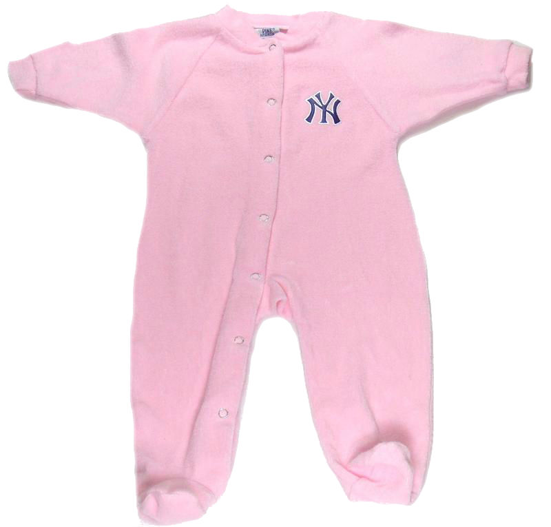 Yankees Newborn Pink Terry Sleeper
