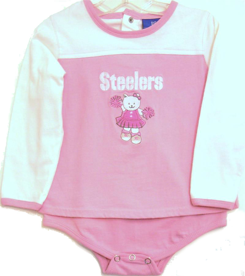 Pittsburgh Steelers Pink Baby Cheerleader Dress