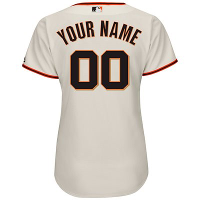 San Francisco Giants Womens Personalized Official Majestic Jersey