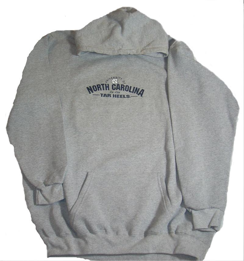 University of North Carolina Grey Hooded Sweatshirt