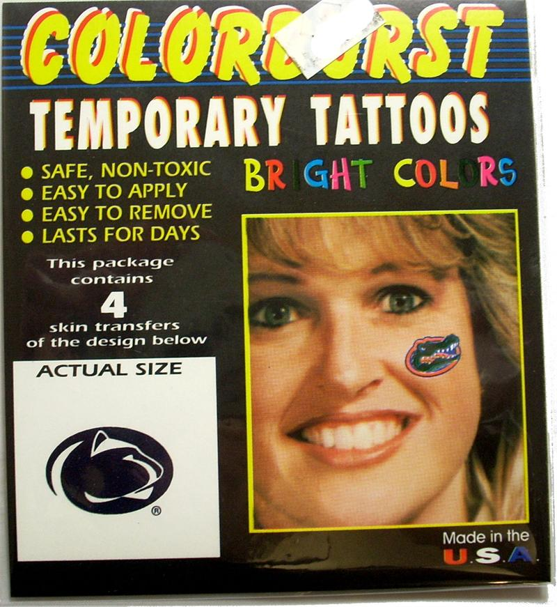 Penn State Removable Tattoos