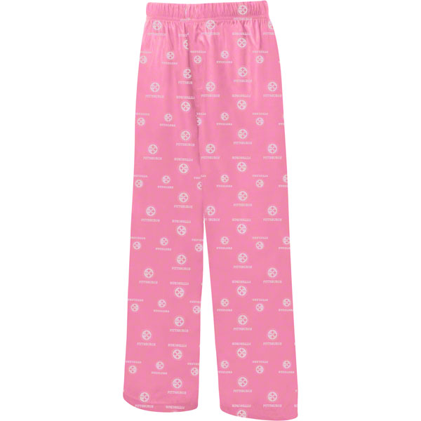 Pittsburgh Steelers Girls Pink Pajama Pants