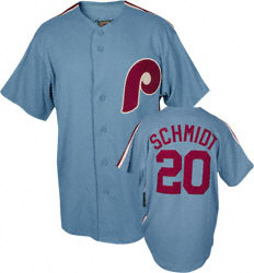 Phillies Schmidt Throwback Cooperstown Baseball Jersey