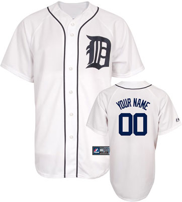 Detroit Tigers Personalized Adult Official Majestic Jersey