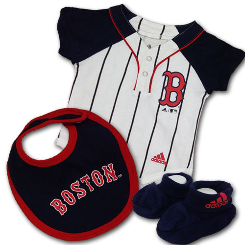 Red Sox Onsie With Bib and Booties (Can be personalized)