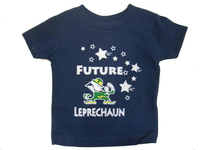 Notre Dame Future Leprechaun Kids Shirt (infant and toddler sizes)