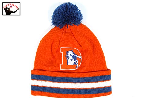 Broncos Vintage Winter Hat By Mitchell and Ness