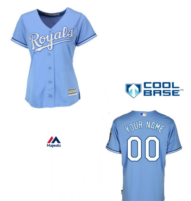 Royals Womens Personalized Light Blue Jersey