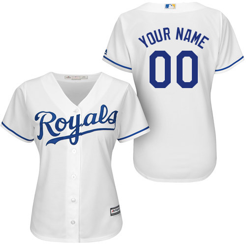 Kansas City Royals Official Womens Personalized Home Jersey