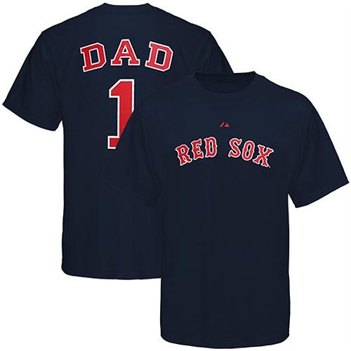 Boston Red Sox Number One Dad Shirt