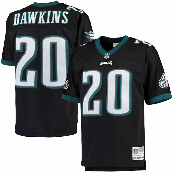 Brian Dawkins Official Black Jersey by Mitchell and Ness