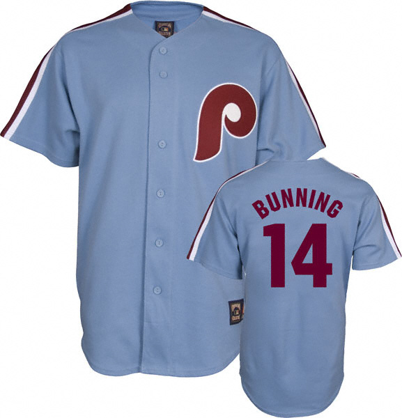 Phillies Bunning Throwback Cooperstown Baseball Jersey