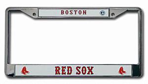 Red Sox Metal License Plate Frame
