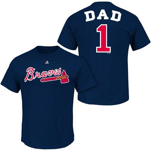 online store 929b4 2f692 Atlanta Braves Dad Shirt