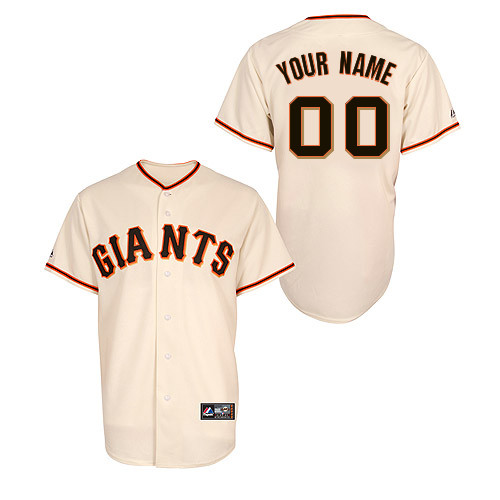 San Francisco Giants Adult Personalized Official Majestic Jersey