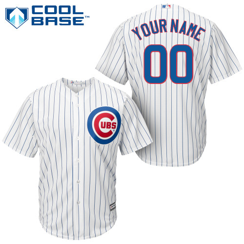 Chicago Cubs Official Adult Personalized Home Jersey