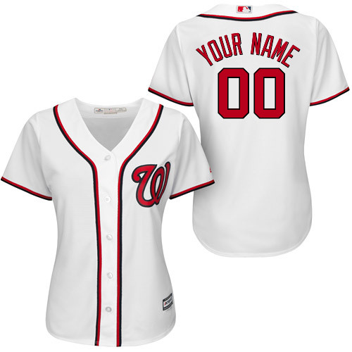 Washington Nationals Personalized Womens Official Majestic Jersey