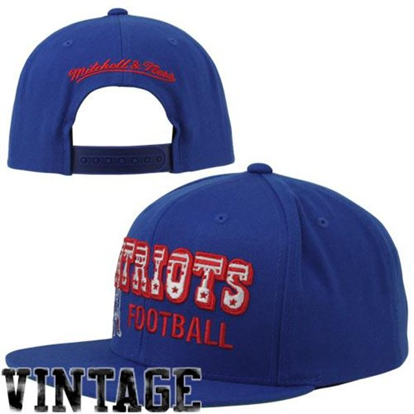 Patriots Throwback Hat By Mitchell and Ness
