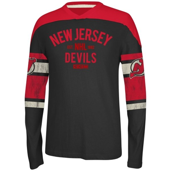 New Jersey Devils Vintage CCM Long Sleeve Applique
