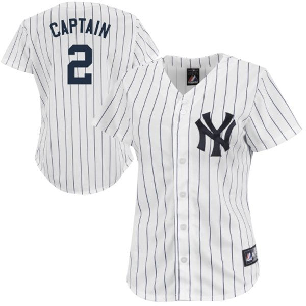 Home  MLB   Yankees Derek Jeter Captain Womens Jersey 68aa867c9fb