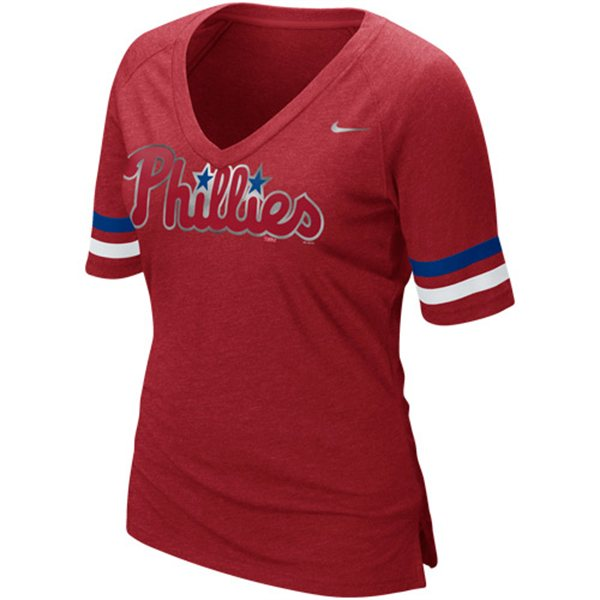 Phillies Womens V-Neck Shirt By Nike