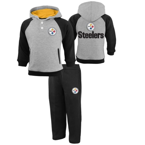 Pittsburgh Steelers Kids 2pc Hooded Sweatsuit
