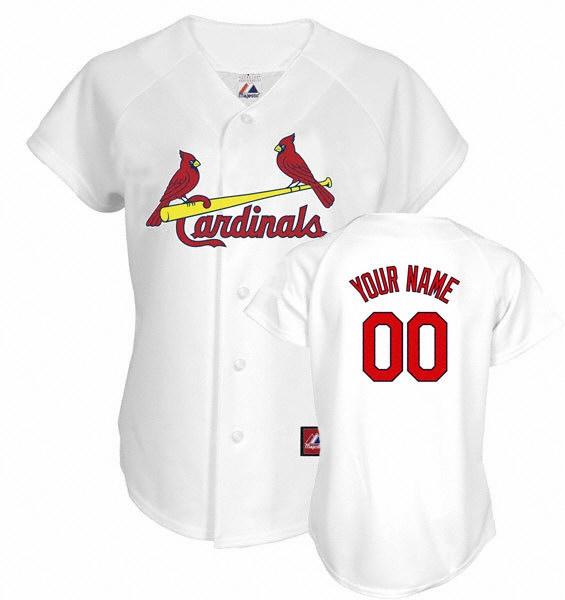 St. Louis Cardinals Womens Personalized Jersey By Majestic