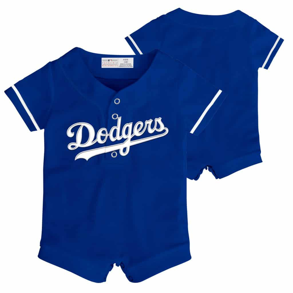 Dodgers Personalized Newborn Royal Blue Onesie
