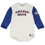 New York Mets Mitchell & Ness 3/4 Length Shirt Sale