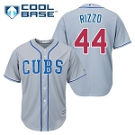 Cubs Rizzo Men's Road Jersey Grey
