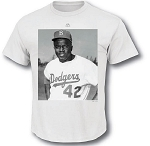 Dodgers Jackie Robinson Iconic Photo T-shirt for Men