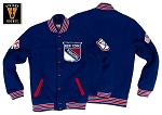 New York Rangers Authentic Wool Jacket Outerwear 1965-1966 by Mitchell & Ness