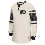 Flyers Vintage CCM Long Sleeve Henley Shirt