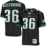 Brian Westbrook Official Black Eagles Jersey by Mitchell and Ness