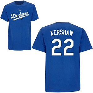 Clayton Kershaw official Youth Player Name and Number Shirt