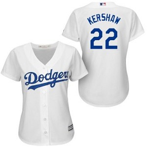 Clayton Kershaw Official Womens Home Jersey