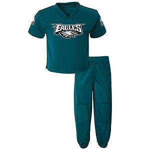 Eagles Baby & Toddler Field Goal Pant & Shirt Set - Green