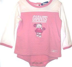 New York Giants Pink Cheerleader Dress