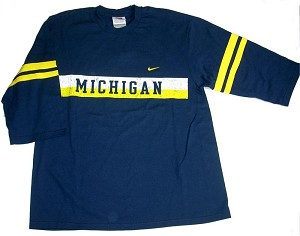 University Of Michigan 3/4 Sleeeve Vintage Shirt