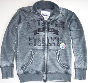newest b6f07 5ad25 Steelers Womens Full Zip Sweatshirt by Alyssa Milano