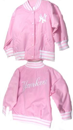 York Yankees Pink Satin Jacket