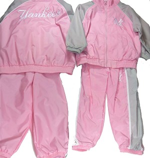 Yankees Girl Pink Sweatsuit
