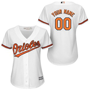 Baltimore Orioles Personalized Womens Official Majestic Jersey