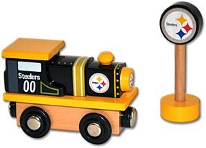Steelers Wooden Train