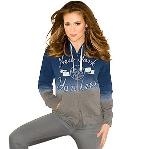 Yankees Womens Full Zip Sweatshirt From Touch By Alyssa Milano