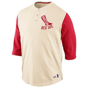 Boston Red Sox Fenway Park Old School Henley Shirt